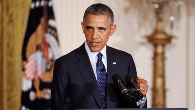 """Barack Obama, anuncia la renuncia del comisionado interino del Servicio de Impuestos Internos (IRS, en inglés), Steven Miller, por el """"inexcusable"""" descubrimiento de que la agencia hizo un excesivo escrutinio a grupos de tendencia conservadora."""