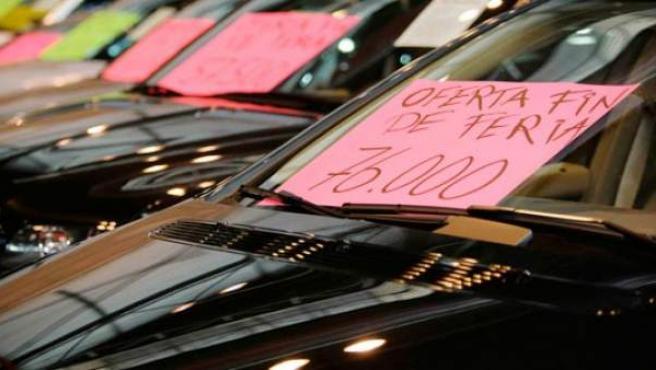 Imagen de archivo de coches usados en venta.