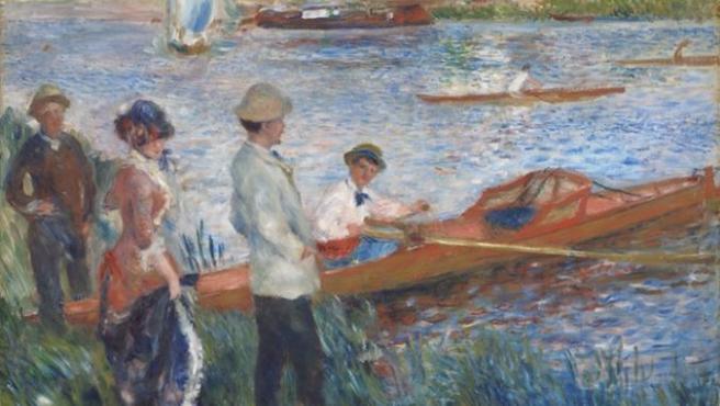 'Remeros en Chatou', óleo de Renoir de 1879