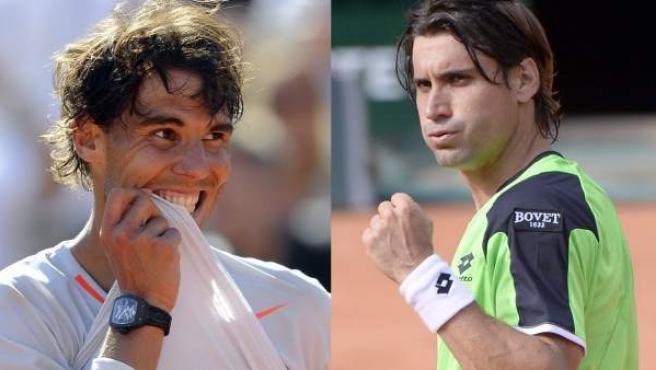 Rafa Nadal y David Ferrer.