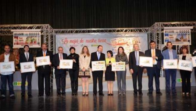 Presentación cupones de la ONCE dedicados a La Rioja