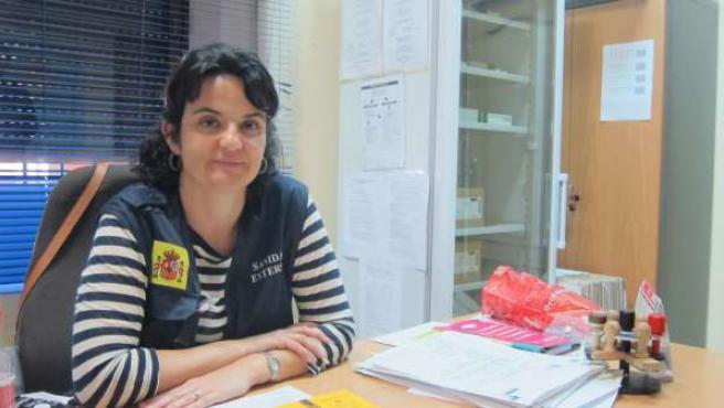 La jefa del servicio médico de Sanidad Exterior de Huelva, Mar Faraco.