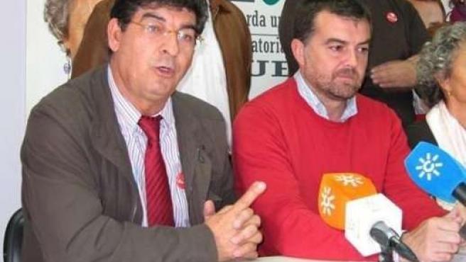 Diego Valderas, junto a Antonio Maíllo