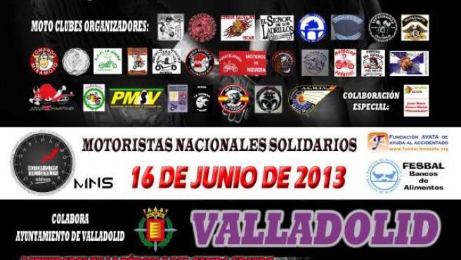 Cartel del evento solidario de motoristas