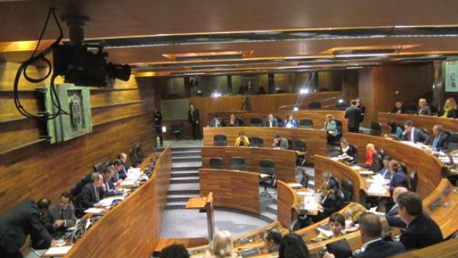 Pleno de la Junta General del Principado abril 2013