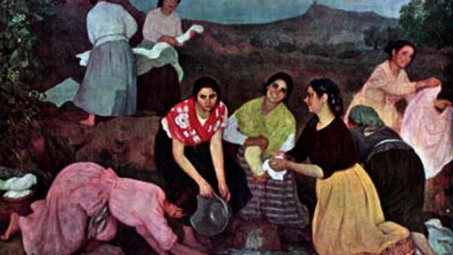 Cuadro De Las Lavanderas De Eugenio Hermoso