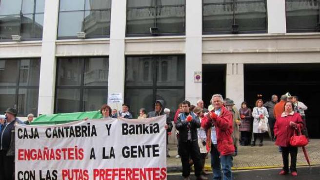 Protesta de las preferentes en Cantabria