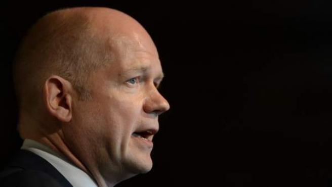 El secretario de estado británico para Asuntos Exteriores y de la Mancomunidad de Naciones, William Hague.