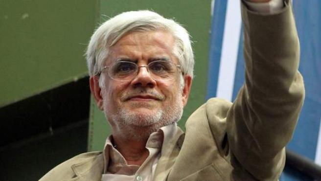 El candidato reformista moderado a la Presidencia de Irán, Mohamad Reza Aref.