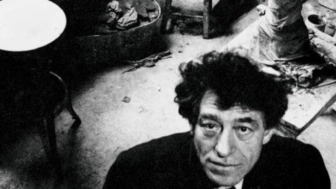 Giacometti en su taller, 1957