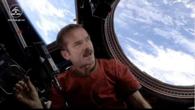 El astronauta Chris Hadfield en la ISS.