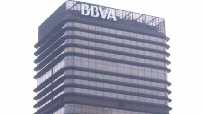 El edificio del BBVA, uno de los rascacielos de Madrid.