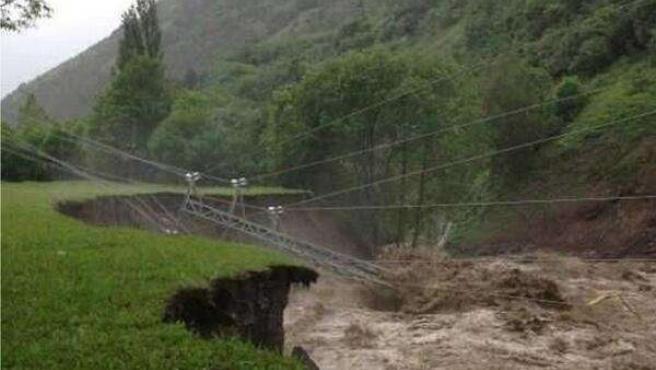 Desbordamiento de los ríos en Val d'Aran