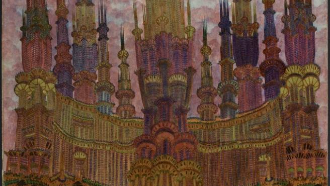 Los cuadros intrincados de Marcel Storr imaginan la arquitectura de París tras una hecatombe atómica