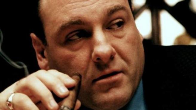 James Gandolfini, en su papel de Tony Soprano.