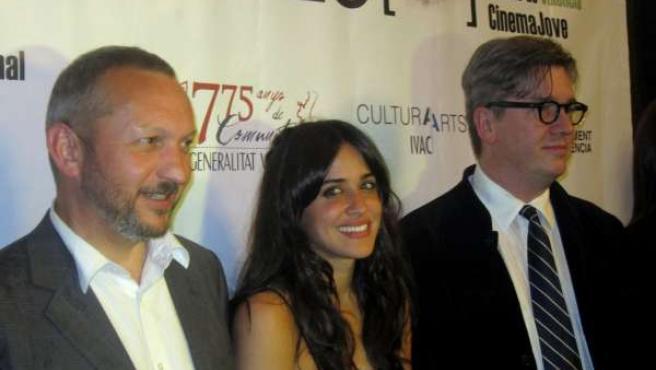 Macarena García, entre Jonathan Hodgson y Tomas Alfredson