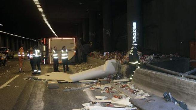 Accidente de tráfico en Madrid.
