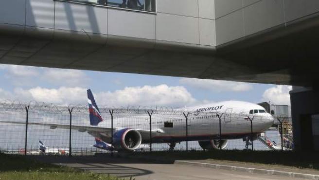 Un avión de la compañía Aeroflot.