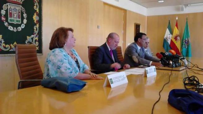 Los responsables provinciales durante la rueda de prensa.