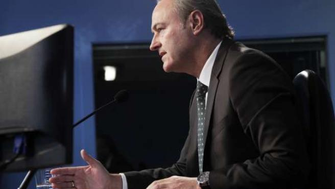Alberto Fabra en rueda de prensa