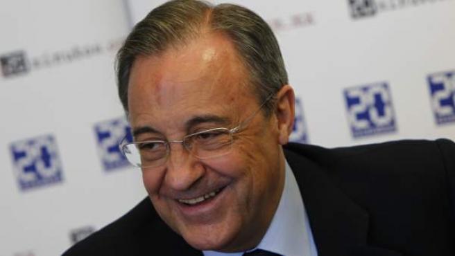 Florentino Pérez, durante la entrevista exclusiva en '20minutos'.
