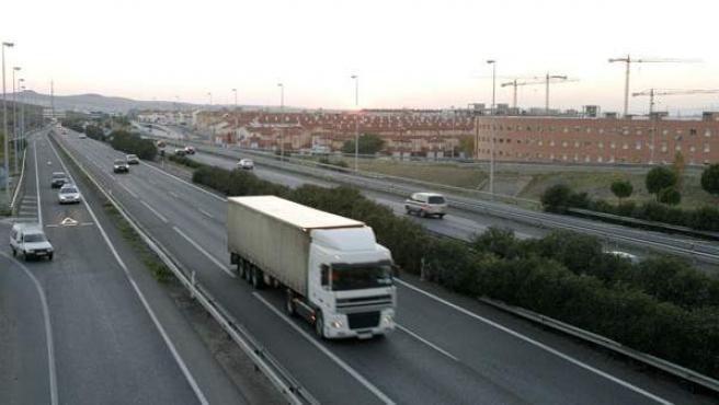 Imagen de archivo de un camión de transporte.
