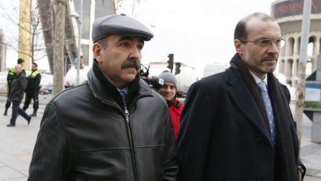 Francisco del Amo, director de Operaciones y Proyectos de Madrid espacios y Congresos, llega a los juzgados de Plaza de Castilla para declarar por el caso Madrid Arena.