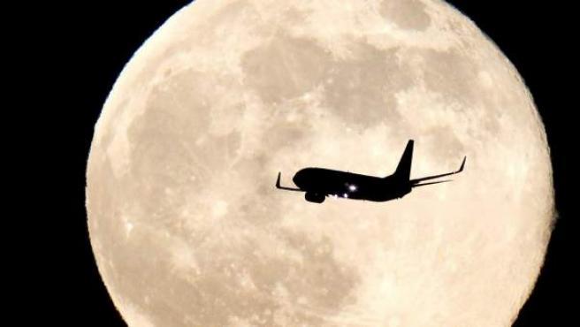 Imagen de la luna en el fenómeno conocido como 'superluna'.