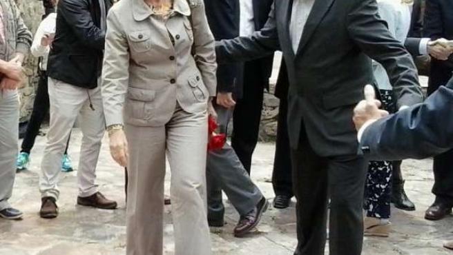 La Reina y el síndic d'Aran Carlos Barrera