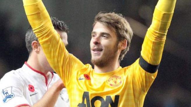 El portero español del Manchester United, David De Gea.