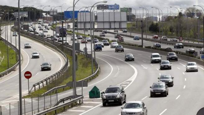 Tráfico en la Carretera de Burgos, A-1, en Madrid.