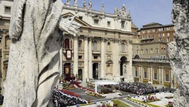 Imagen de archivo de la plaza de San Pedro, en el Vaticano.