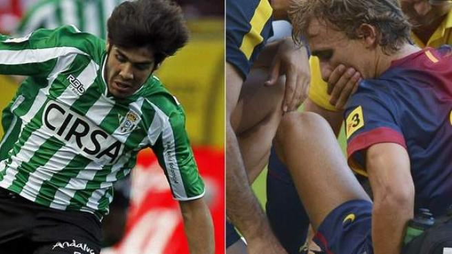 Alejandro Pozuelo y Marc Muniesa en sus etapas en Betis y Barça, respectivamente.