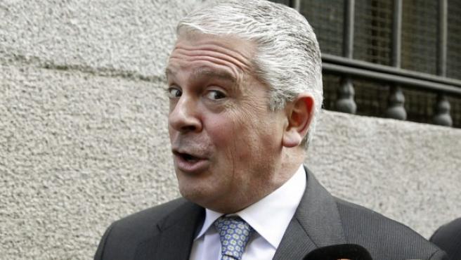 El presunto número dos de la trama Gürtel, Pablo Crespo, a su llegada a la Audiencia Nacional.