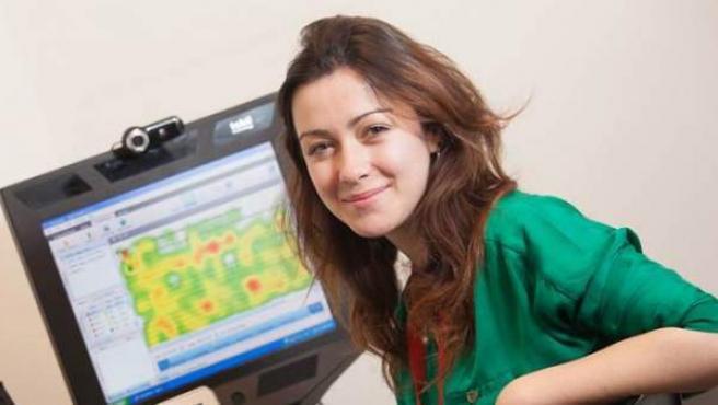 Una joven investigadora