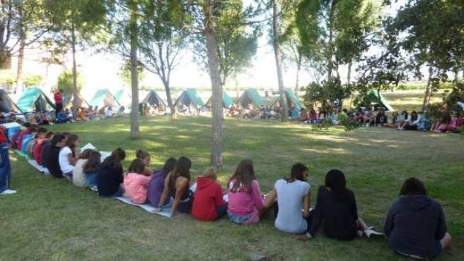 Participantes en el Campamento de Verano de los Grabielistas.