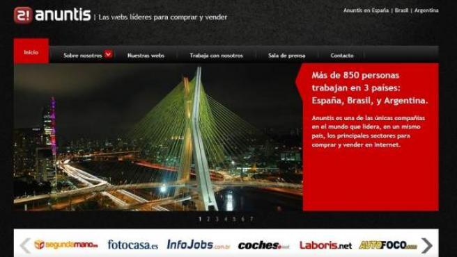 Página web de Anuntis.