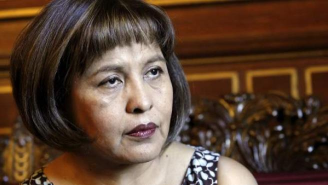 La ministra de Transparencia Institucional y Lucha contra la Corrupción de Bolivia, Nardi Suxo Iturry.