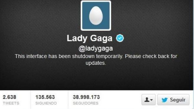 Imagen de la cabecera de la cuenta de Twitter de Lady Gaga.