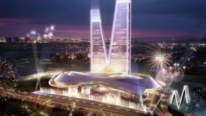 Recreación de Las Vegas Sands del futuro Eurovegas en Alcorcón.