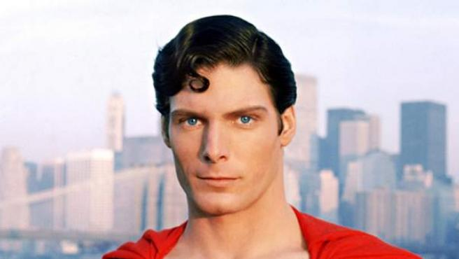 Christopher Reeve en el papel de Superman.
