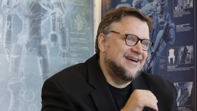 El director Guillermo del Toro durante una entrevista sobre 'Pacific Rim'.