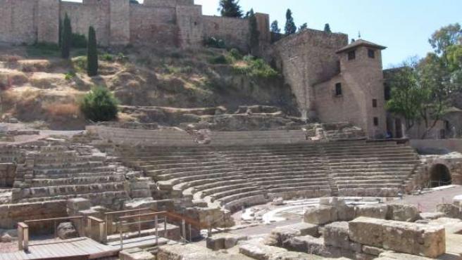 Málaga teatro romano turismo turistas historia