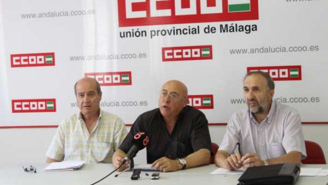 Jualián Gutiérrez, Juan Morón y Antonio Herrera