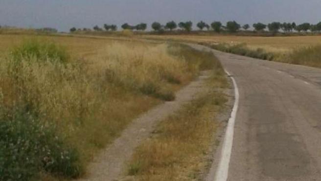 Carretera de Huerrios, en Huesca