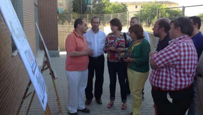 Elena Cortés visita Linares