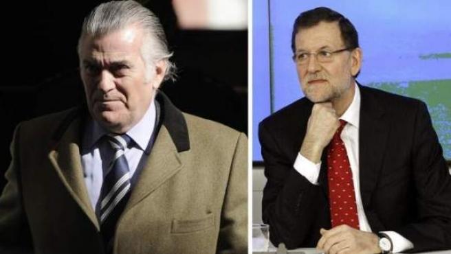 El extesorero del PP Luis Bárcenas y el presidente del Gobierno, Mariano Rajoy, en dos imágenes de archivo.