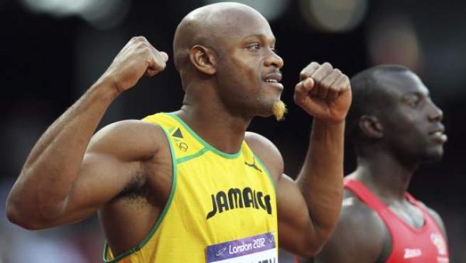 El atleta jamaicano, Asafa Powell, en los Juegos Olímpicos de Londres 2012.