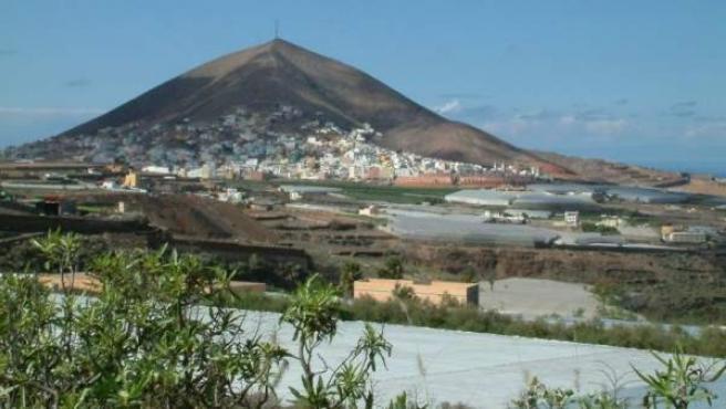 Vista general de Santa María de Guía, zona afamada por sus quesos.