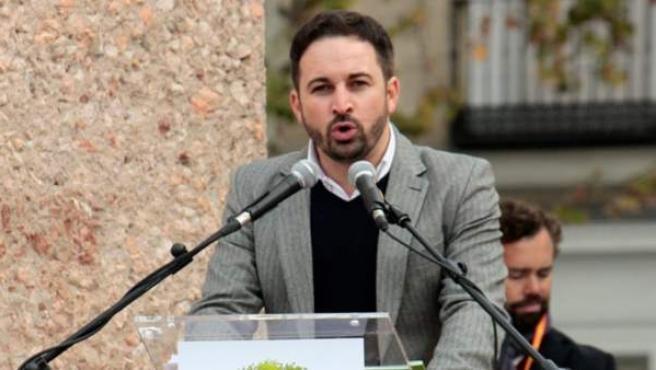 Santiago Abascal Conde, durante un acto de la Fundación Denaes.